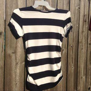 Michael Kors  black white cotton top